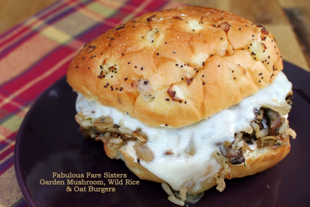 Garden Mushroom, Wild Rice & Oat Burgers