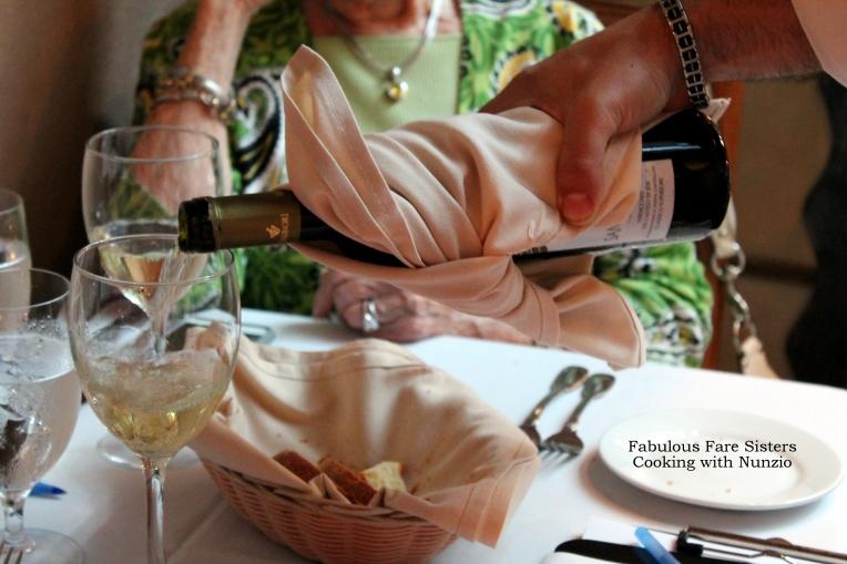 Guests having wine