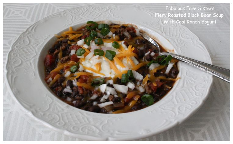 Fiery Roasted Black Bean Soup With Cool Ranch Yogurt 1