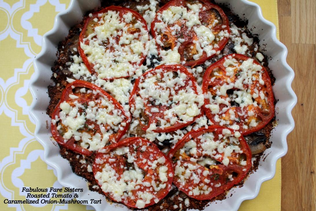Roasted Tomato & Caramelized Onion-Mushroom Tart