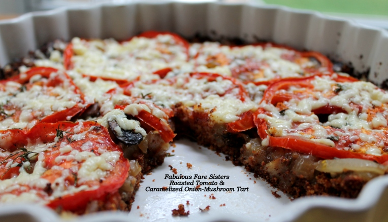 Roasted Tomato & Caramelized Onion-Mushroom Tart