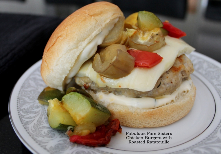 Chicken Burger with Roasted Ratatouille