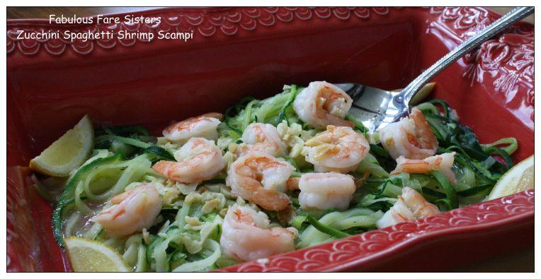 Zucchini Spaghetti Shrimp Scampi 1
