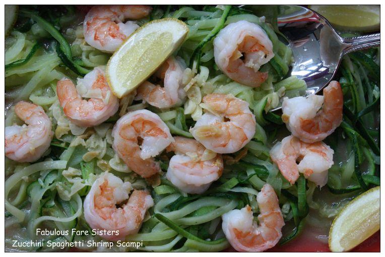 Zucchini Spaghetti Shrimp Scampi 2