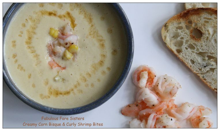Creamy Corn Bisque & Curly Shrimp Bites 7