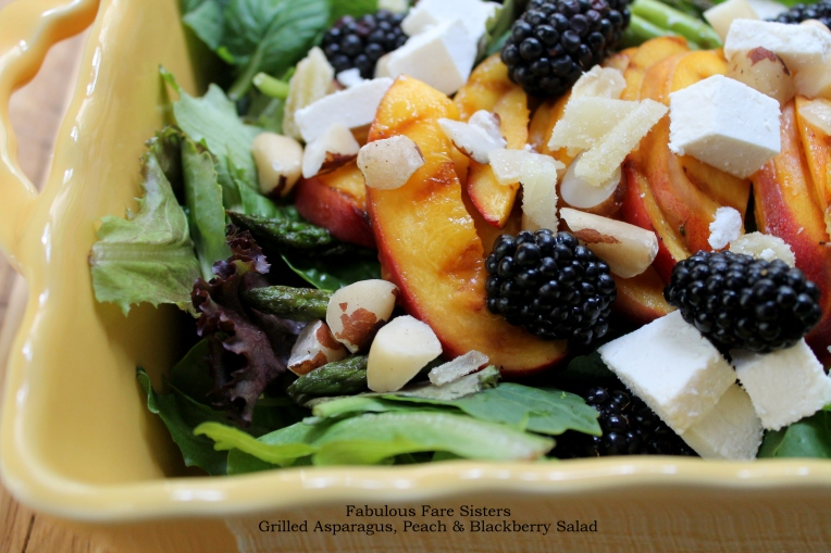 Grilled Asparagus, Peach & Blackberry Salad