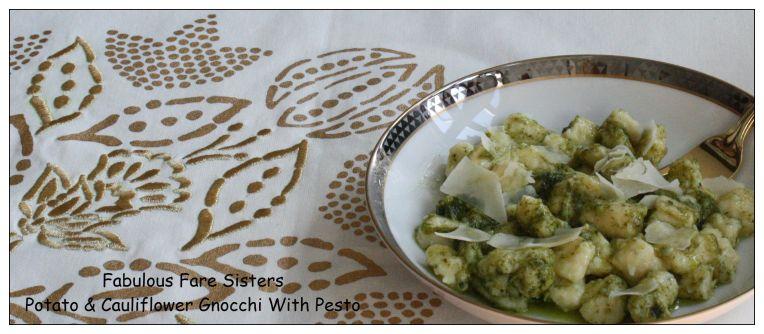 Potato & Cauliflower Gnocchi With Pesto