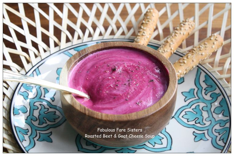 Roasted Beet & Goat Cheese Soup