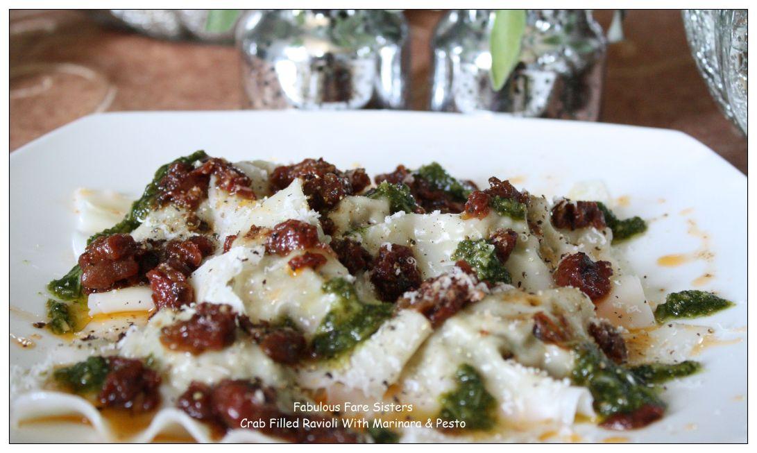 crab-filled-ravioli-with-marinara-pesto-1