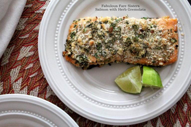 Salmon with Herb Gremolata