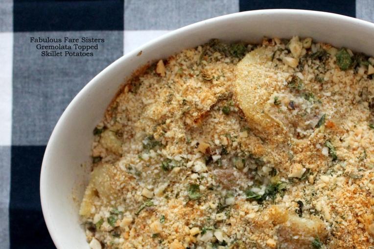 Gremolata Topped Skillet Potatoes