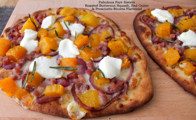 Roasted Butternut Squash, Red Onion & Prosciutto-Ricotta Flatbread