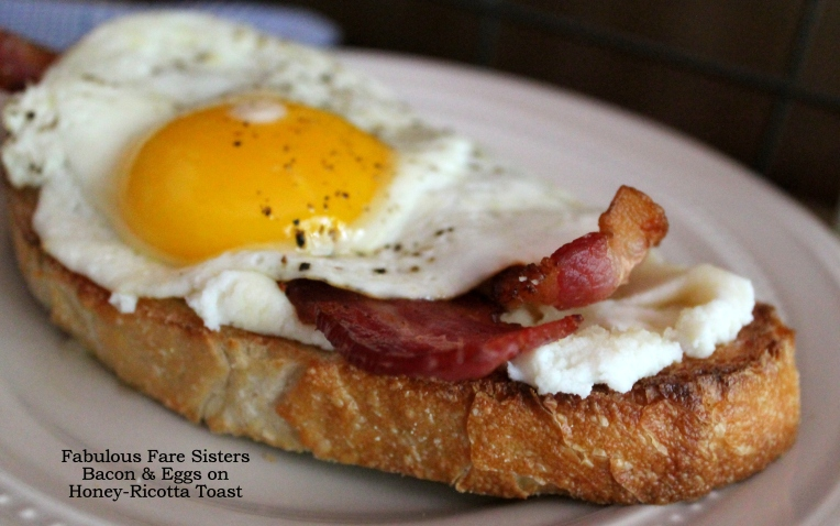 Bacon & Eggs on Honey-Ricotta Toast
