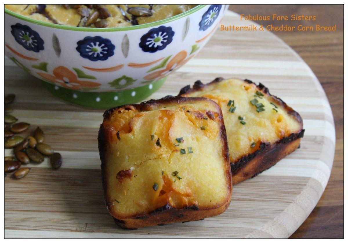 Buttermilk & Cheddar Corn Bread – Fabulous Fare Sisters