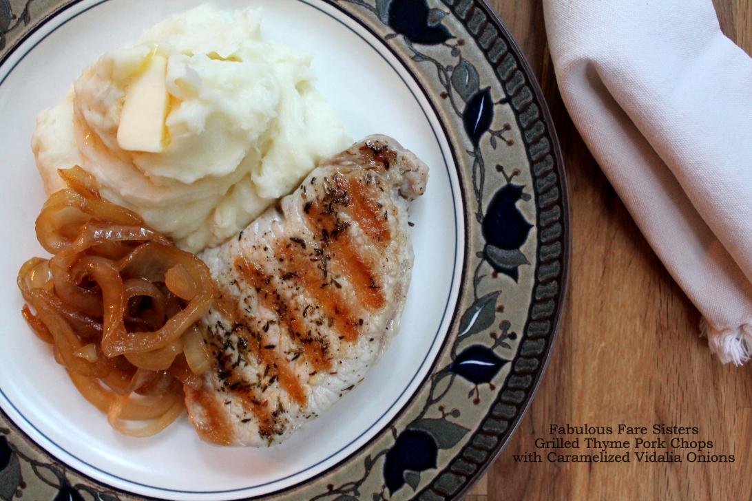 Grilled Thyme Pork Chops