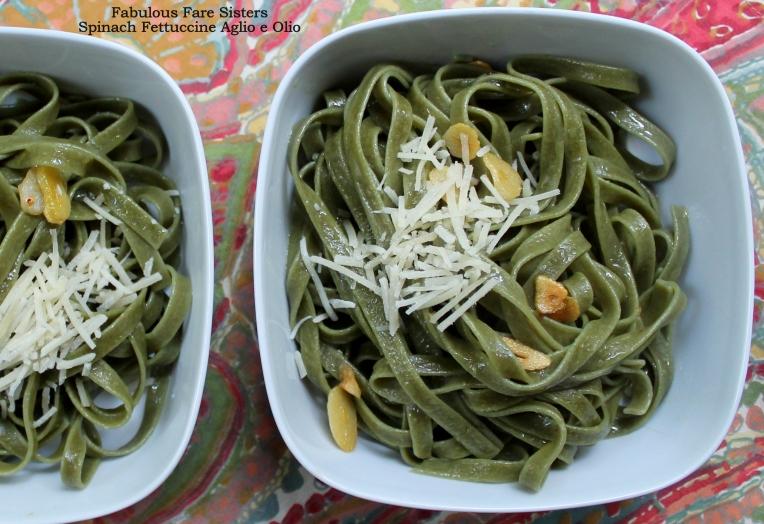 Spinach Fettuccine Aglio e Olio
