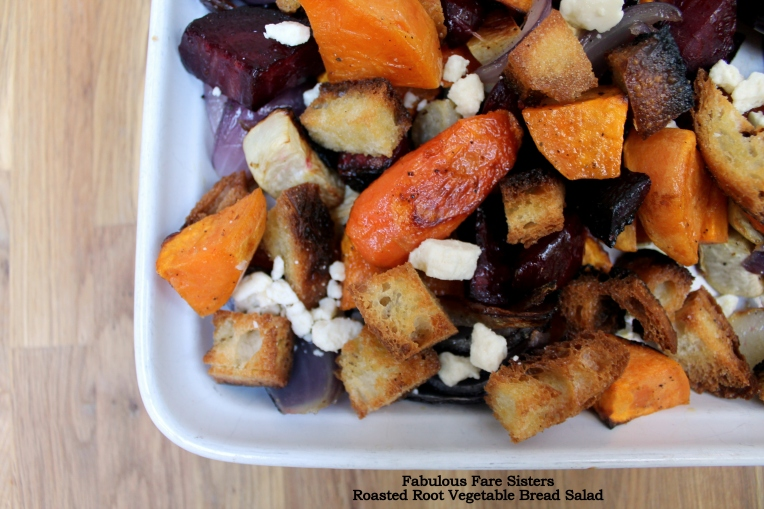 Roasted Root Vegetable Bread Salad