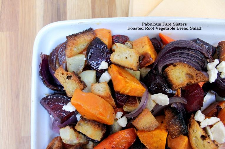 Roasted Root Vegetable Bread Salad