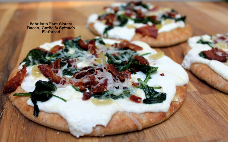 Bacon, Garlic & Spinach Flatbread
