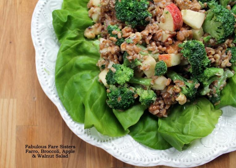 Farro, Broccoli, Apple & Walnut Salad