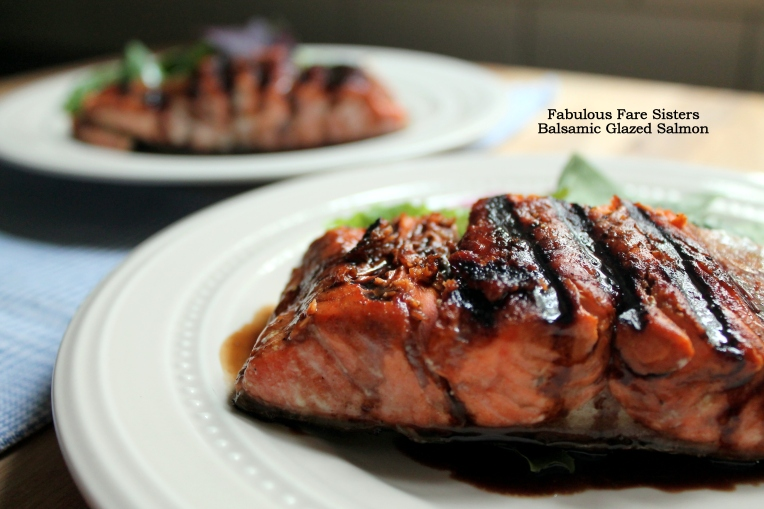balsamic glazed salmon fillets salmon fillets baked with a balsamic ...