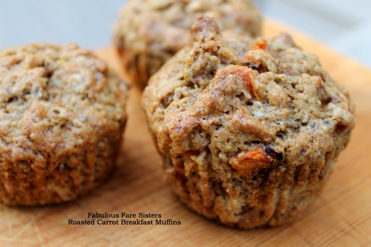 Roasted Carrot Breakfast Muffins