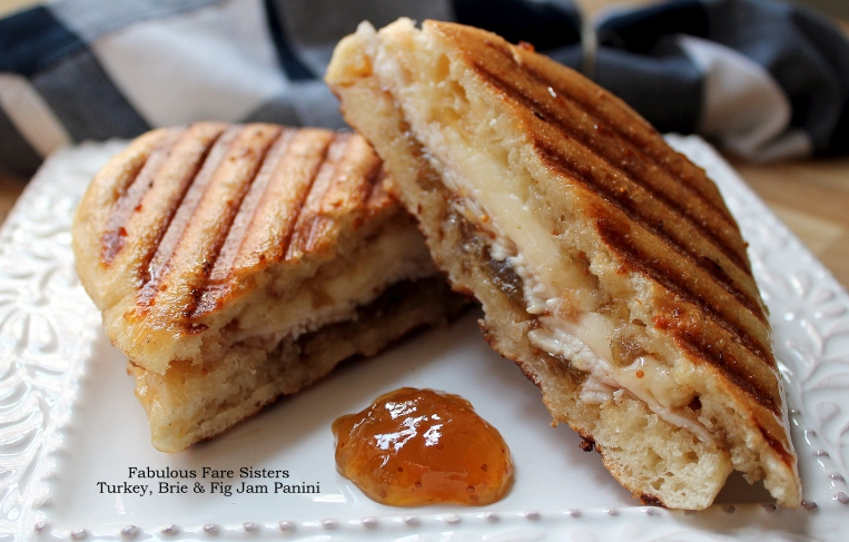 Turkey, Brie & Fig Jam Panini