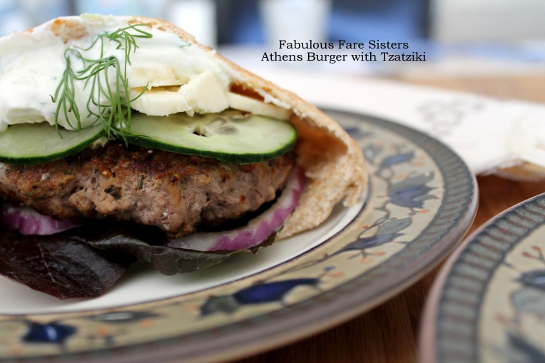 Athens Burger with Tzatziki