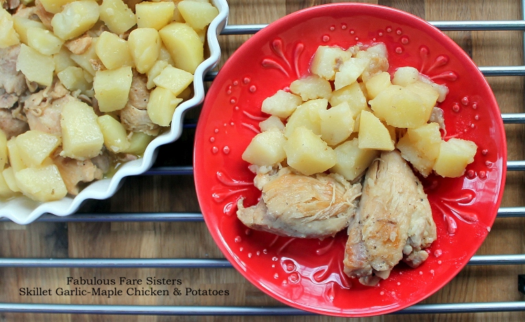 Skillet Garlic-Maple Chicken & Potatoes