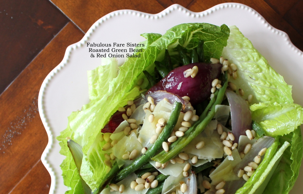 Roasted Green Bean & Red Onion Salad
