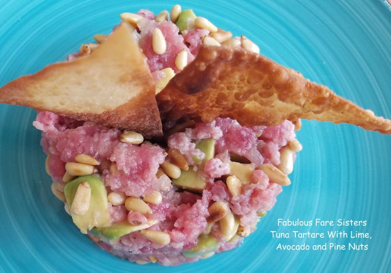 Tuna Tartare With Lime, Avocado and Pine Nuts 1