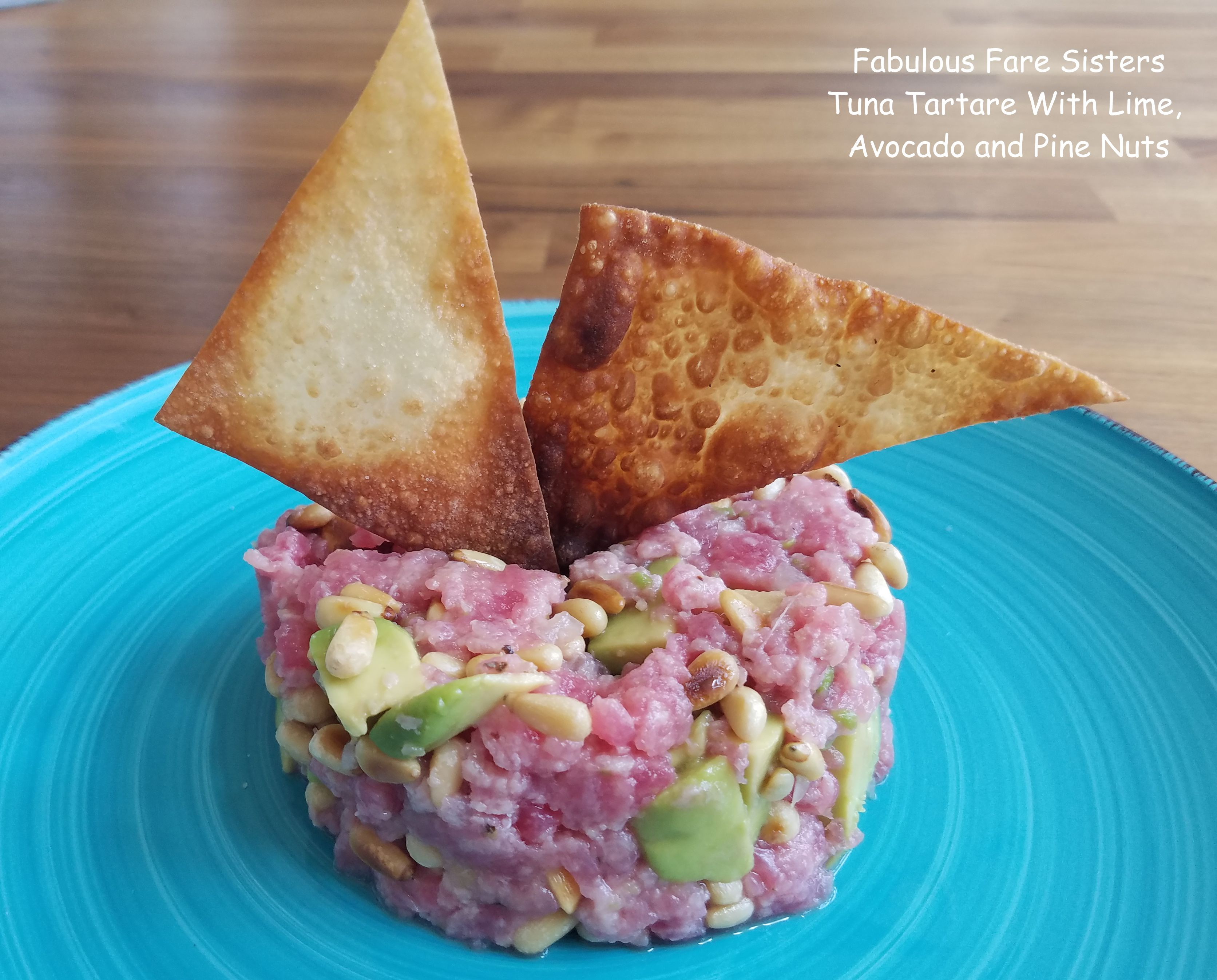 Tuna Tartare With Lime, Avocado and Pine Nuts