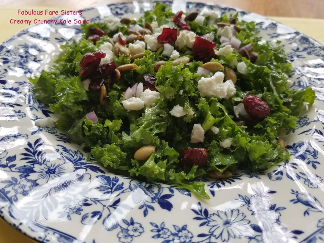 Creamy Crunchy Kale Salad 1