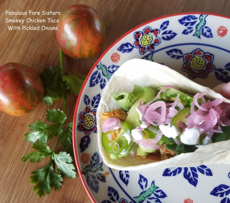 Smokey Chicken Taco With Pickled Onions
