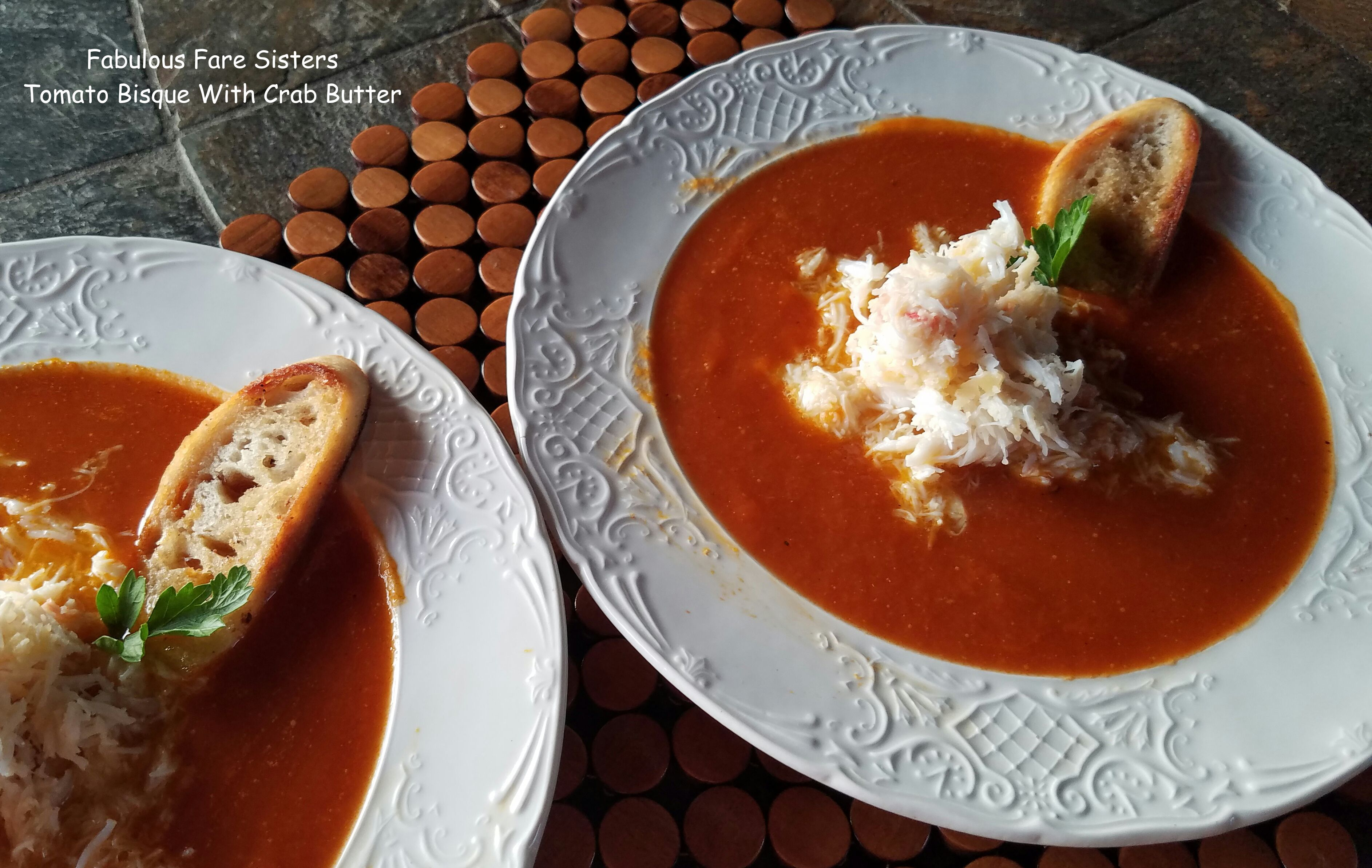 Tomato Bisque With Crab Butter