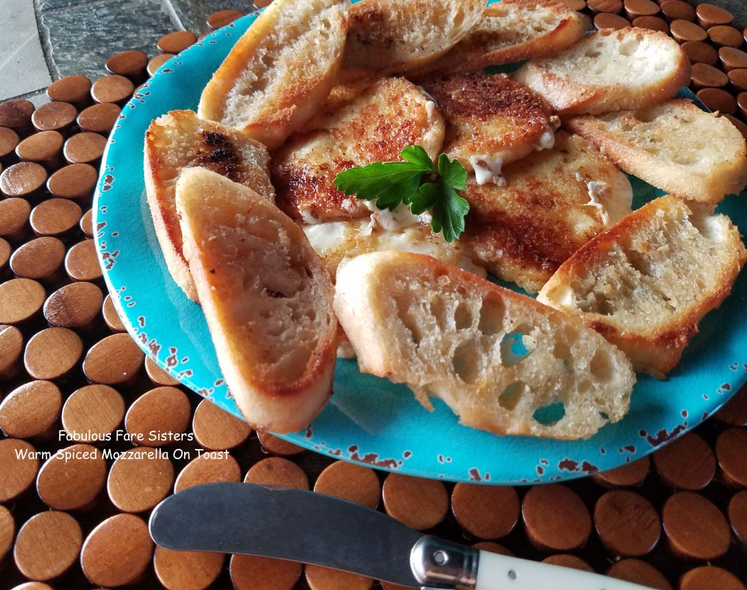 Warm Spiced Mozzarella On Toast
