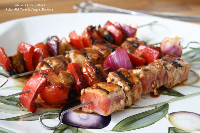 Asian Ahi Tuna & Veggie Skewers 2