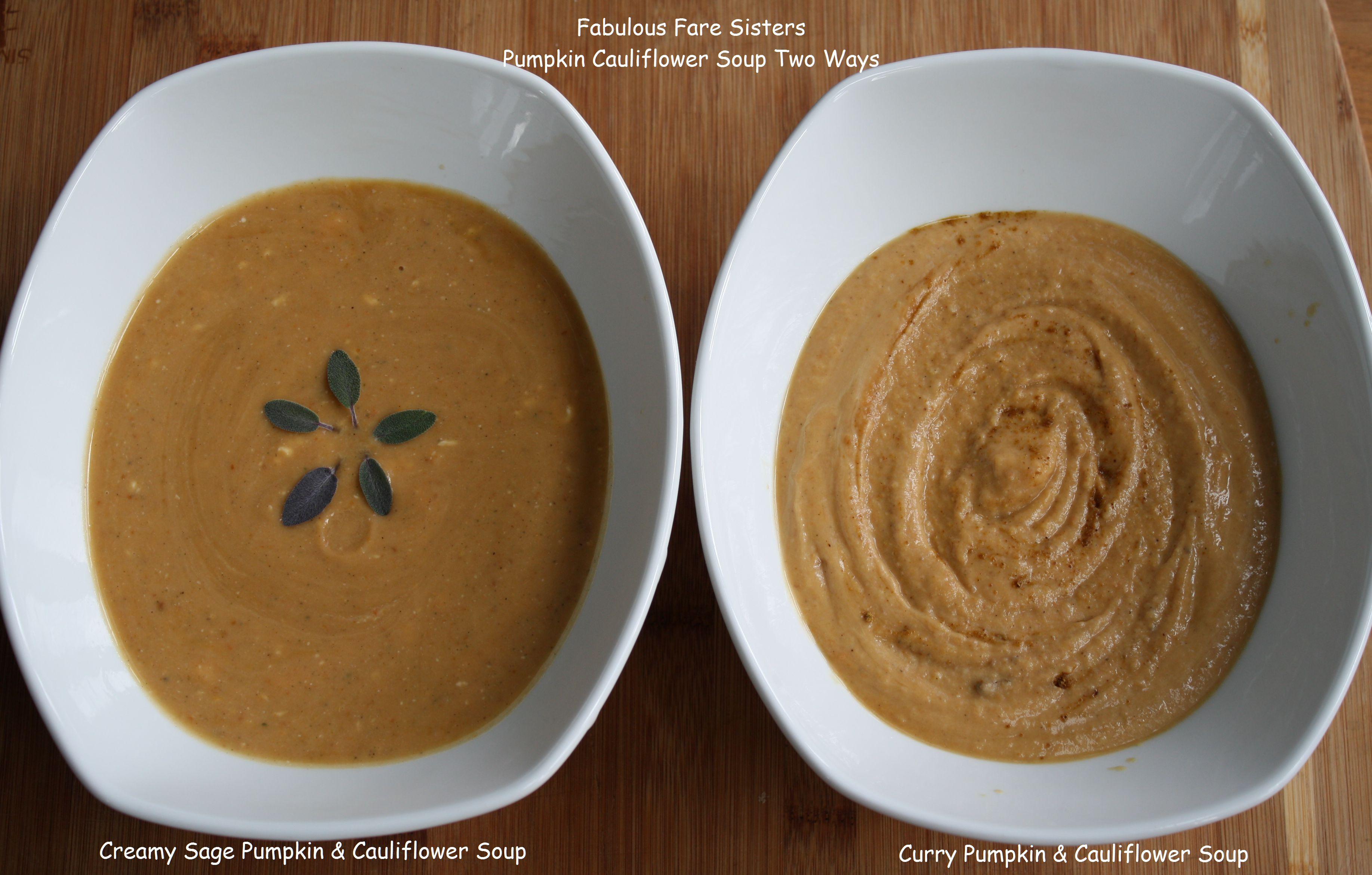 Pumkin & Cauliflower Soups