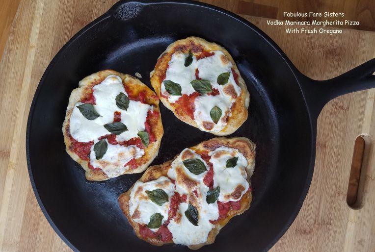 Vodka Marinara Margherita Pizza With Fresh Oregano 3