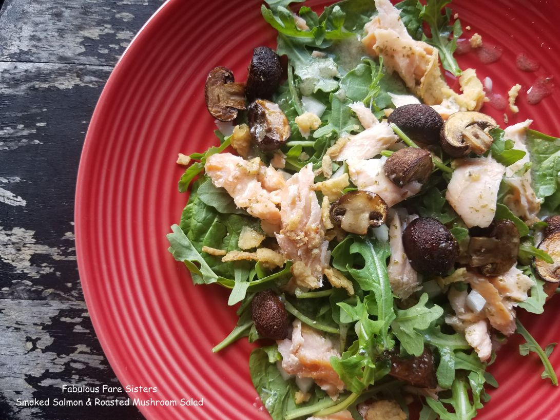 Smoked Salmon & Roasted Mushroom Salad