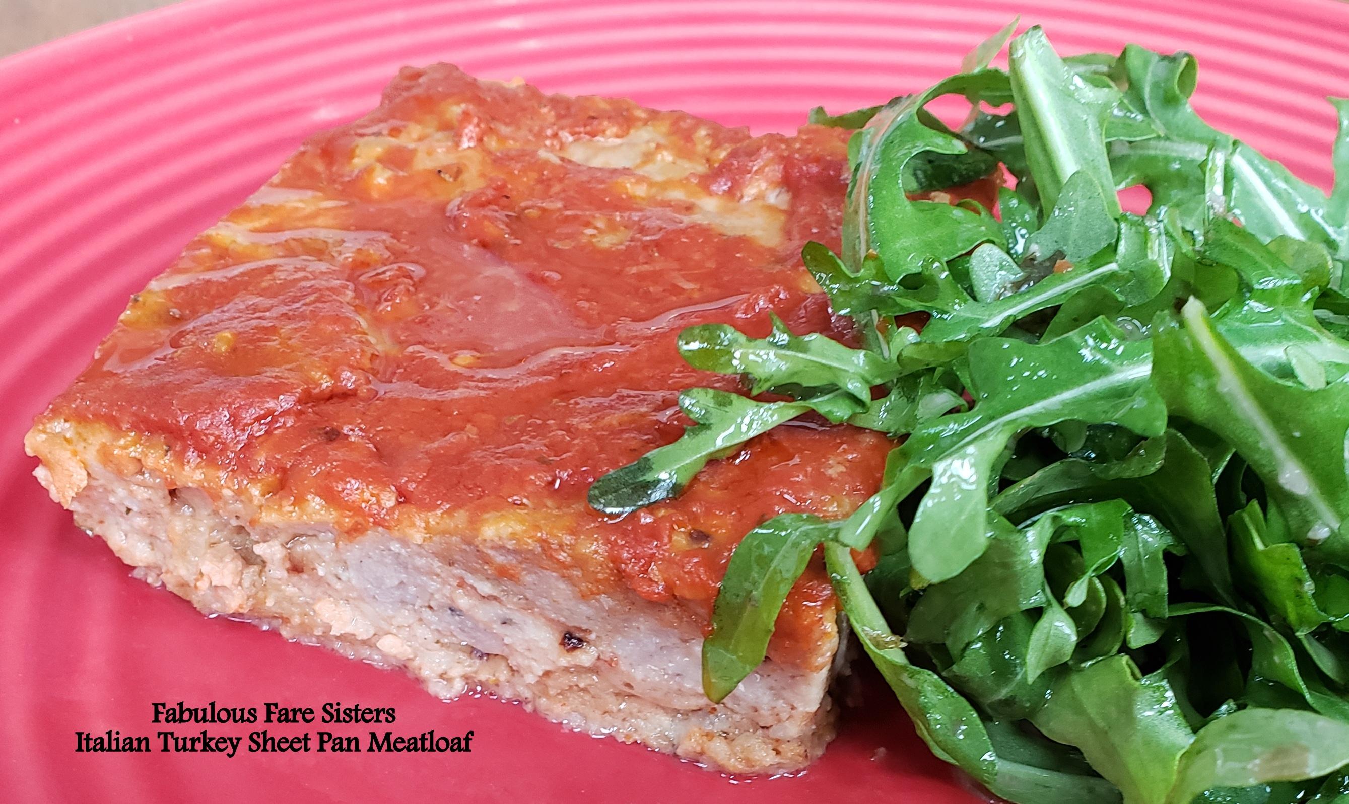 Italian Turkey Sheet Pan Meatloaf