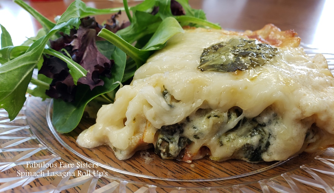 Spinach Lasagna Roll Up's