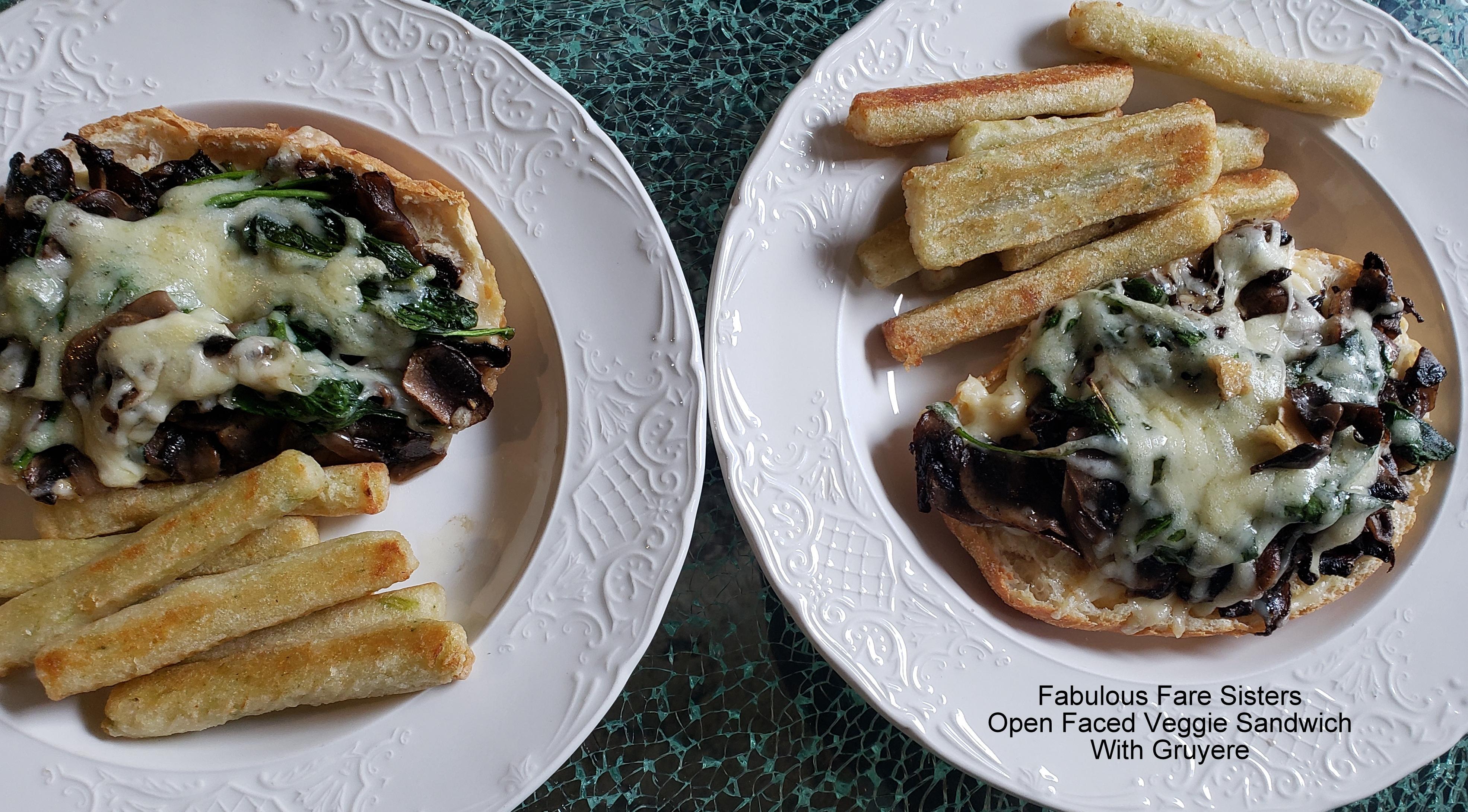 Open Faced Veggie Sandwich