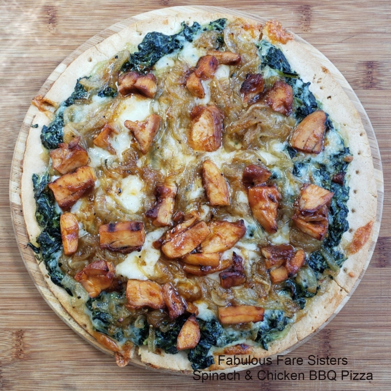 Spinach & Chicken BBQ Pizza